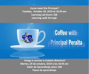 Coffee with Principal Peralta